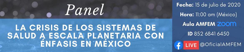 Panel: La crisis de los sistemas de salud a escala planetaria con énfasis en México